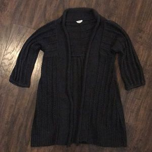 Fossil Knit Open Front Cardigan 3/4 Sleeves